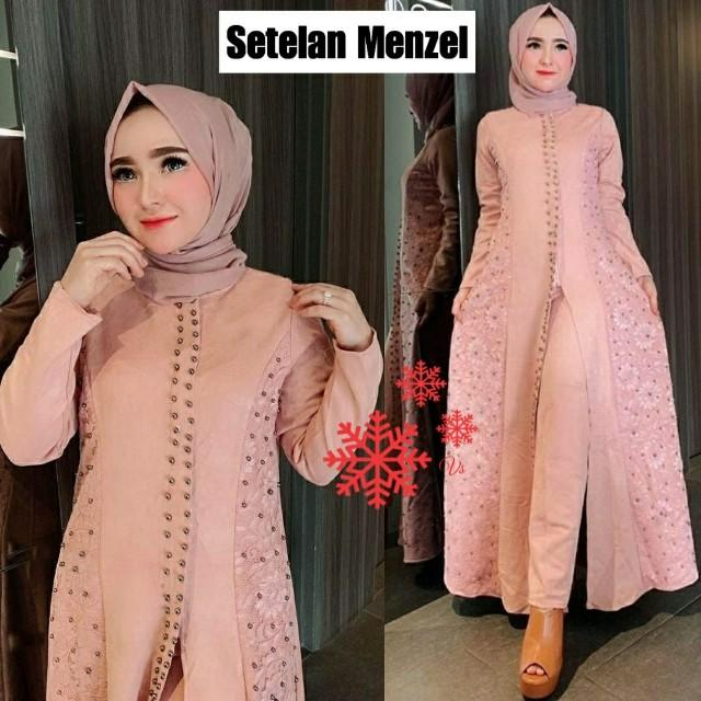 Vs St Menzel Dusty L Atasa Fashion Baju Muslim Gamis Brukat Gamispesta Gamis Kondangan Setelan Wanita Fesyen Wanita Muslim Fashion Gaun Di Carousell