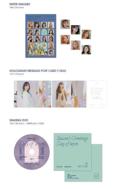WJSN 2020 Season Greeting-Day Of wjsn  ✔️Second payment needed pls read in the details