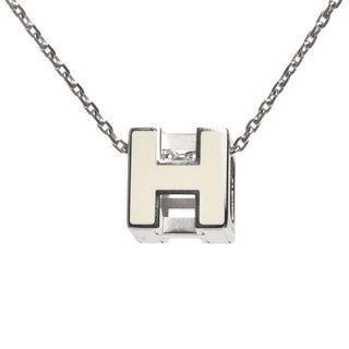 *全新降價*巴黎帶回 Hermès 經典h logo cage項鍊 黑金白銀各一 專櫃缺貨款
