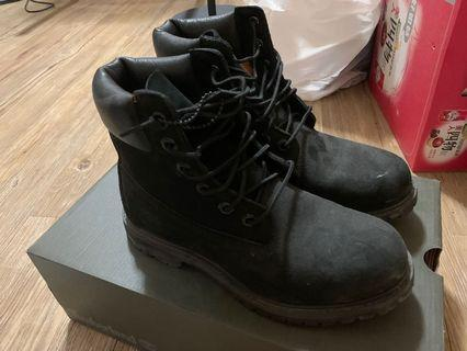 Timberland黑軍靴 6.5號 9.5成新