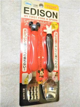 日本購買Edison+disney米奇餐具組
