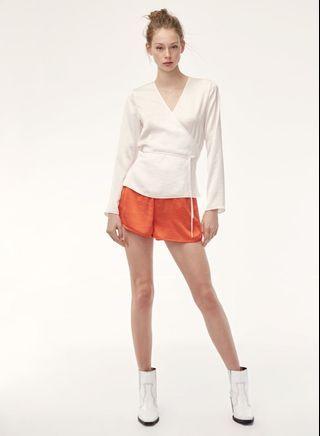 Aritzia Little Moon wrap blouse