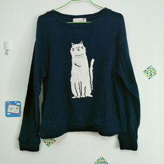 日本品牌童趣貓咪上衣