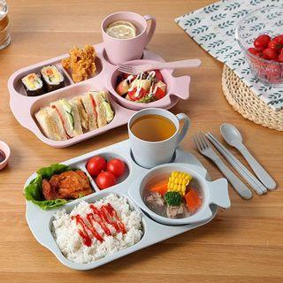 兒童環保餐盤餐具 六件組