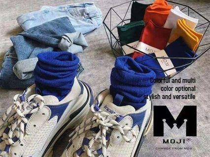 七彩多色彩虹襪堆堆襪(一包7雙)