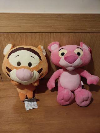 【全新】10存娃娃 (有雷標)-跳跳虎&粉紅豹