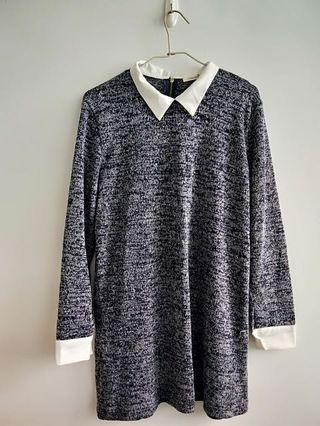 假兩件上衣 襯衫上衣 長板上衣 雪花上衣 長袖 保暖