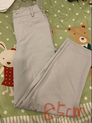杏灰色 直筒西裝褲