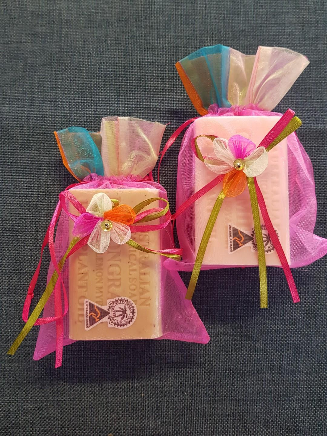 2 x 200g soaps in organza bags (only 2 left)(PRICE IS EA)