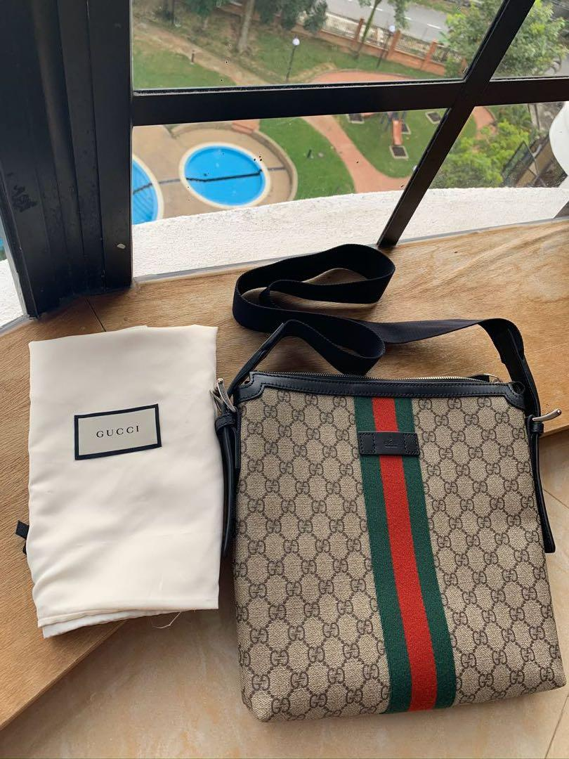 💯 Guaranteed Authentic Gucci Unisex Messenger Sling Crossbody Bag like New (Purchased RM4200+)