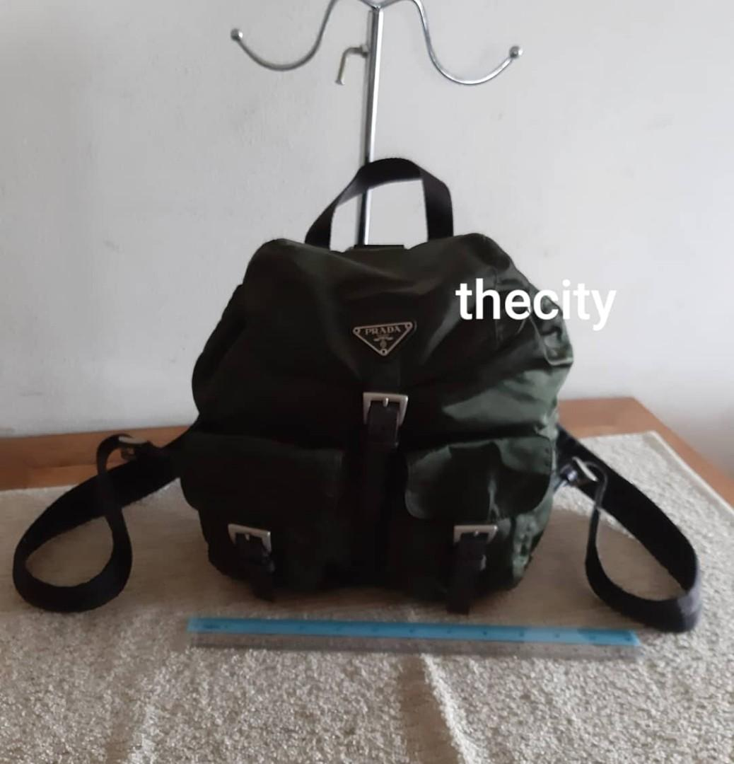 AUTHENTIC PRADA NYLON CANVAS BACKPACK- CLEAN INTERIOR,  OVERALL GOOD - CLASSIC TIMELESS VINTAGE - (PRADA BACKPACKS NOW RETAIL AROUND RM 6000+)