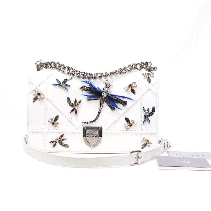 Authentic Pre-loved Christian Dior Limited Edition Dragon Fly Diorama Medium