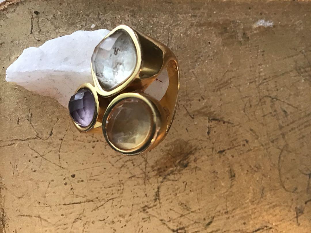Beautiful Semi Precious Ring by Alex Fraga Collection