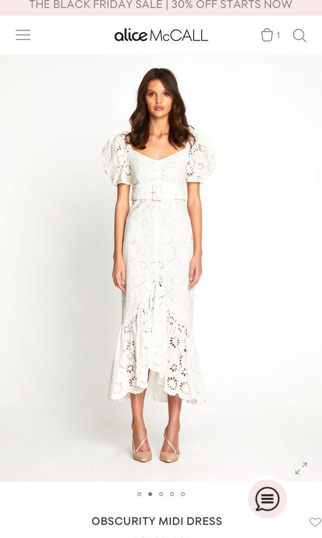 Brand new Alicemccall white lacy midi dress! New season! Still available from their online store
