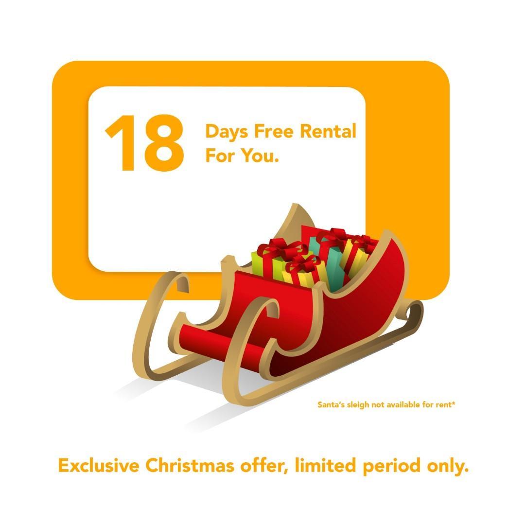 Car rental! 18 days free rental!!