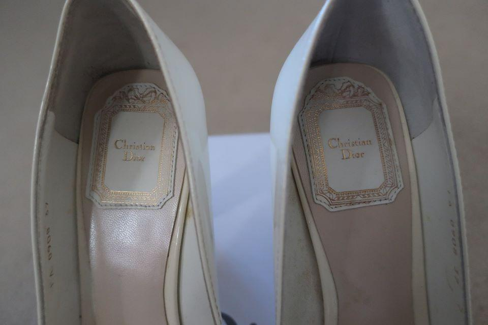 CHRISTIAN DIOR BABY DOLL PATENT HEEL Size 37  (100% AUTHENTIC)