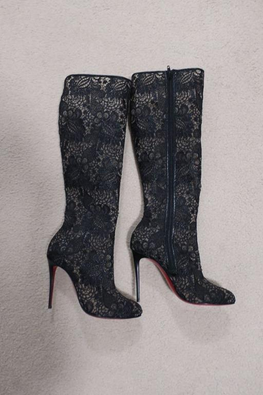 Christian Louboutin 'Tennissina 100' Lace Boot *NEW* RRP $1795