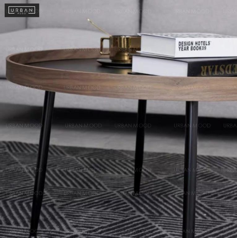 Como Black Walnut Round Nesting Coffee Tables Furniture Tables Chairs On Carousell