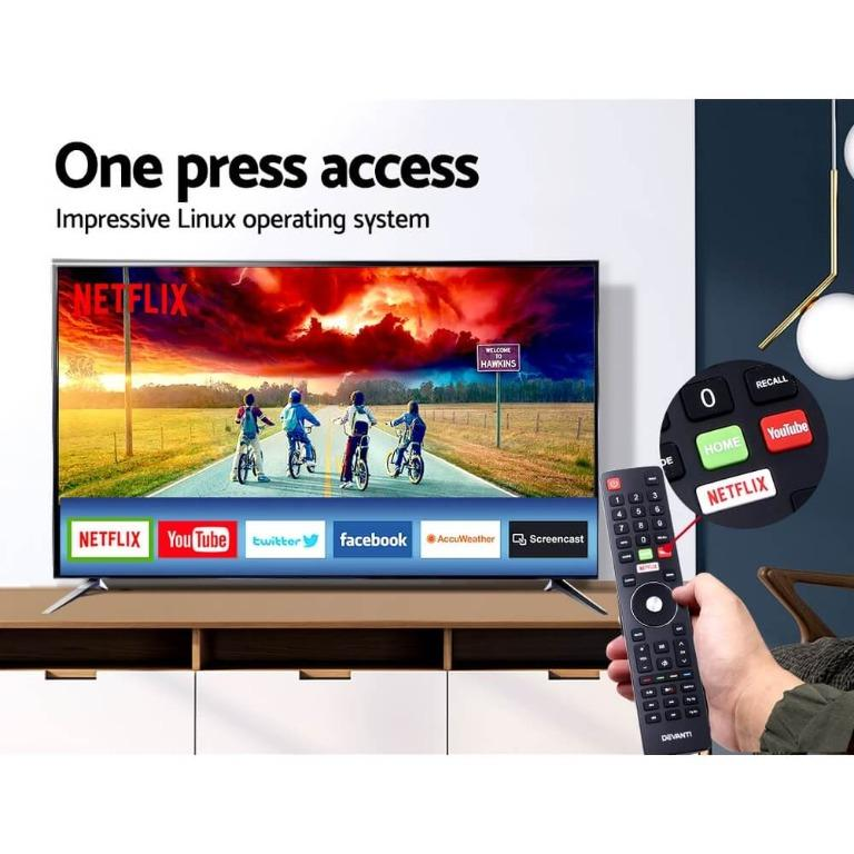 Devanti Smart LED TV 55″ Inch 4K UHD HDR LCD Slim Thin Screen Netflix