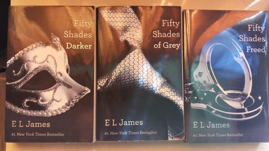 Fifty shades of grey Fifty shades darker Fifty shades freed  Take all for 350 pesos, or 130pesos each