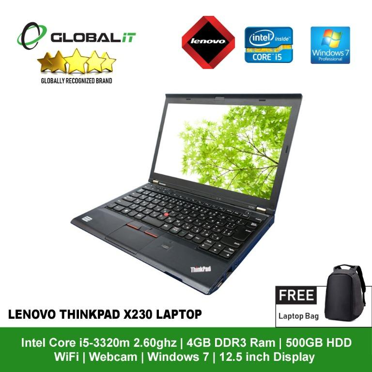 Lenovo Thinkpad X230 I5 12 5 Refurbished Electronics Computers Laptops On Carousell