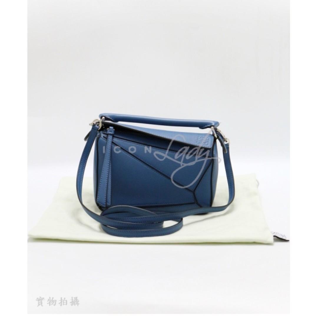 LOEWE Puzzle (Mini) 藍色小牛皮 手挽袋 斜揹袋 側肩袋 手袋
