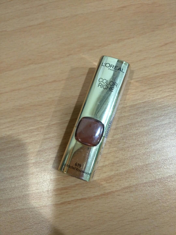 (全新)L'OREAL PARIS 巴黎萊雅純色訂製唇膏#619 誘惑野玫