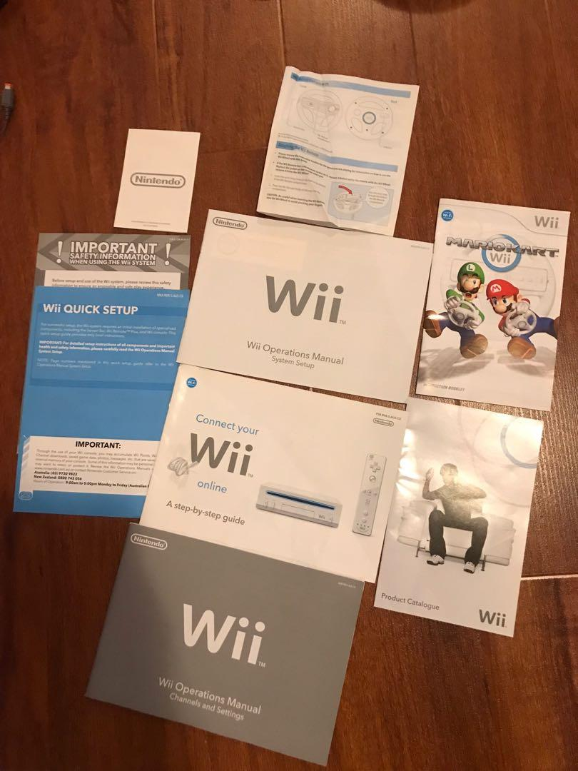Nintendo Wii Console Bundle in black including 6 games