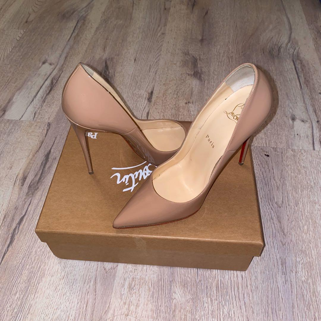 Nude christian Louboutin kate heels (120) size 9   #luxury #louboutin #l
