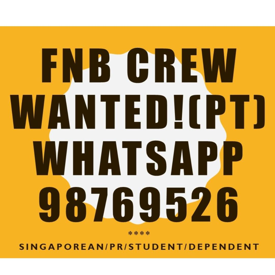 PART TIME CREW FOR 30/11 & 01/12