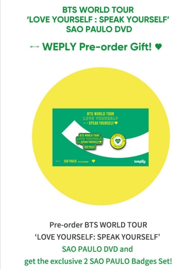 [PO/GO] BTS Love Yourself : Speak Yourself World Tour in Sao Paulo DVD