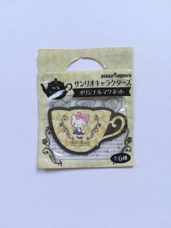 Sanrio Characters x Pokka Sapporo - Hello Kitty - Magnet Sheet