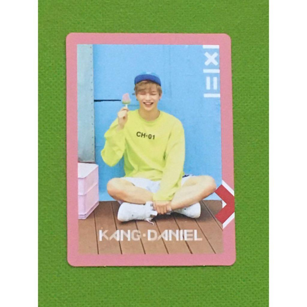 Official Kang Daniel Wanna One WannaOne PHOTOCARD PC To Be One Pink Version Energetic
