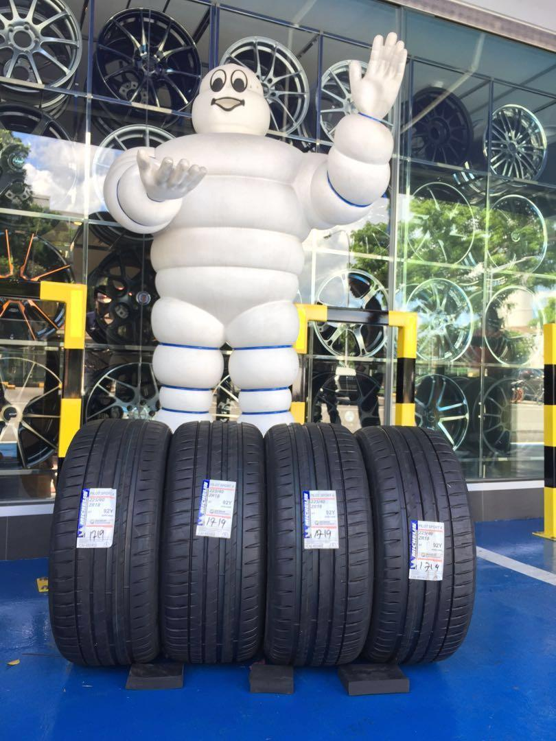 Year End + New Year + New Location Sale for Michelin  Pilot Sport 4 ST 225/40/18 🏮🎉⭐️💫