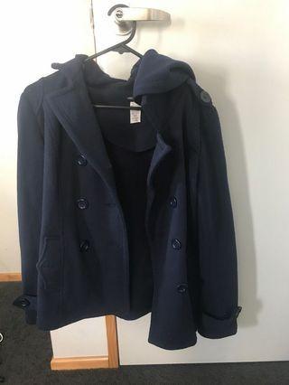 Women Petite Button Down Coat