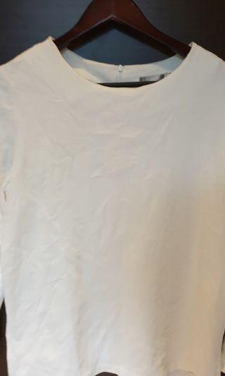 Abito拋袖白色造型上衣