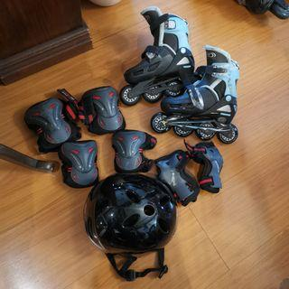 Rollerblades  with Protective Gear