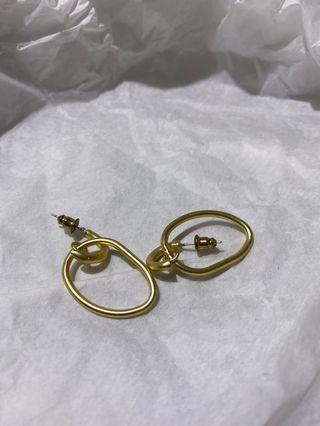 霧金吊掛耳環