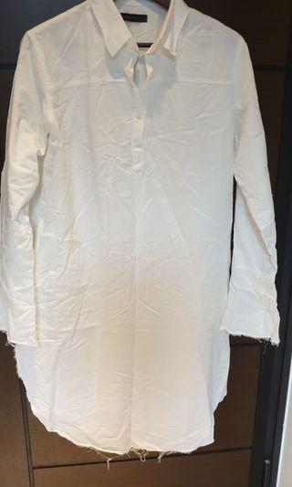 正韓長版造型手袖襯衫