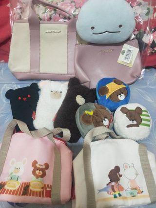 全新全圖11樣商品,手提包、零錢包、收納包