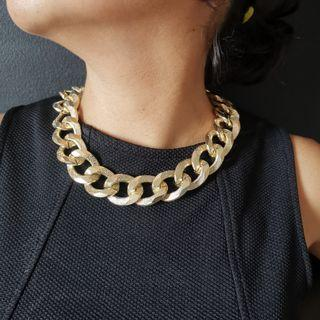 Giant Gold Chain Necklace
