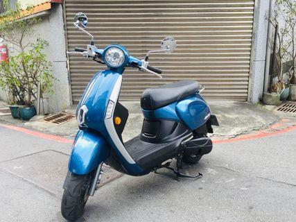 2017年出廠2018年掛牌光陽NEW Many新魅力110CC旗艦版噴射版(藍)