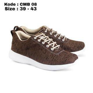 Sepatu Sneaker Pria Coklat Original CMB 08