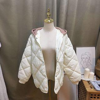 全新現貨-超厚菱格夾棉外套
