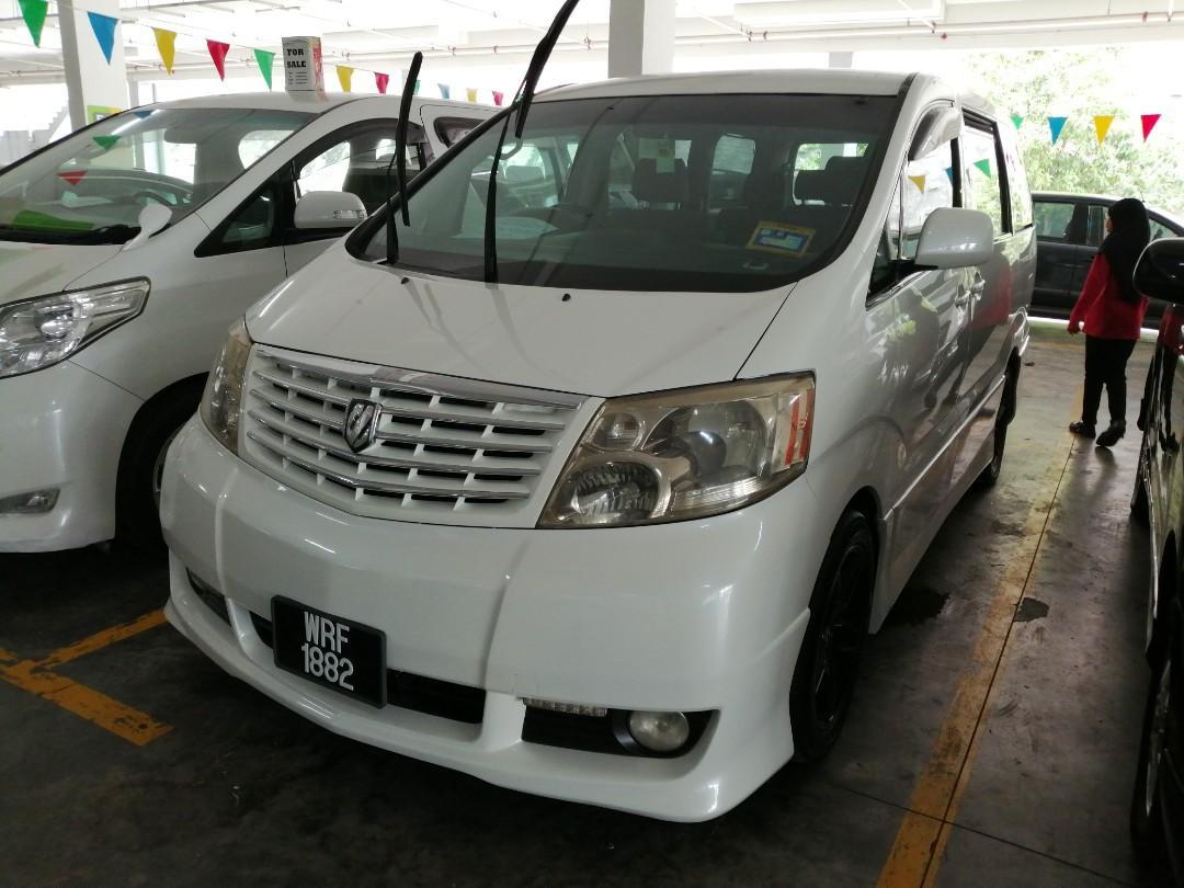 Alphard year 2005/2010 2400cc 8 seater 2 Power door Harga body 47800