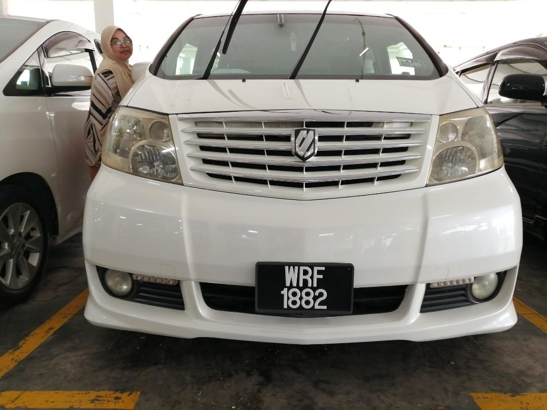 Alphard year 2005/2010 2400cc 8 seater 2 Power door Harga body 47800