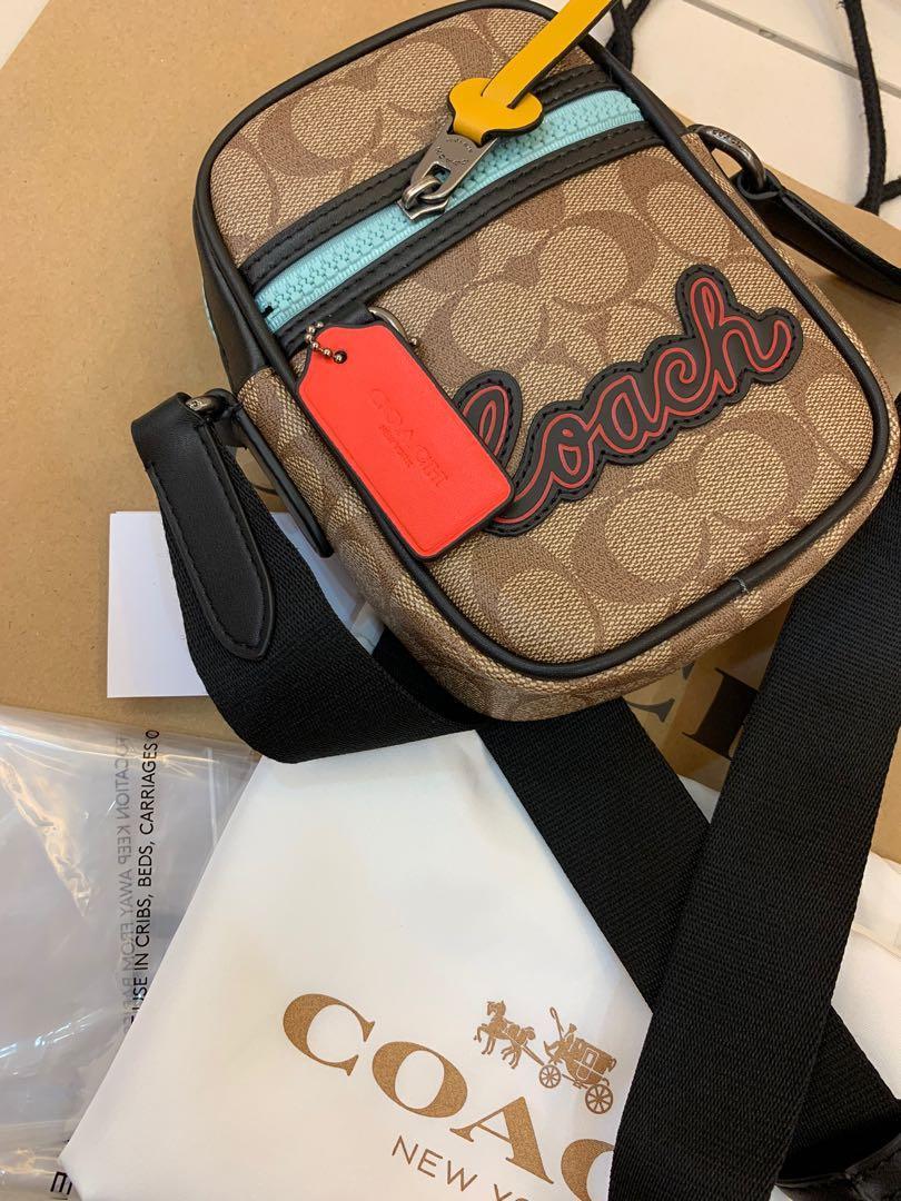 Ready stock authentic coach mini sling bag 73930 monogram mini bags signature logo