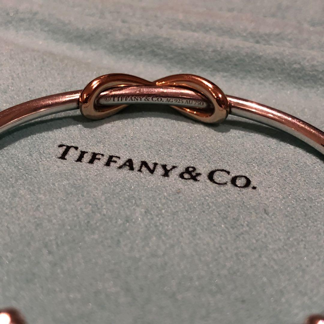 Tiffany&co Infinity Cuff 18k Rose Gold/Sterling Silver