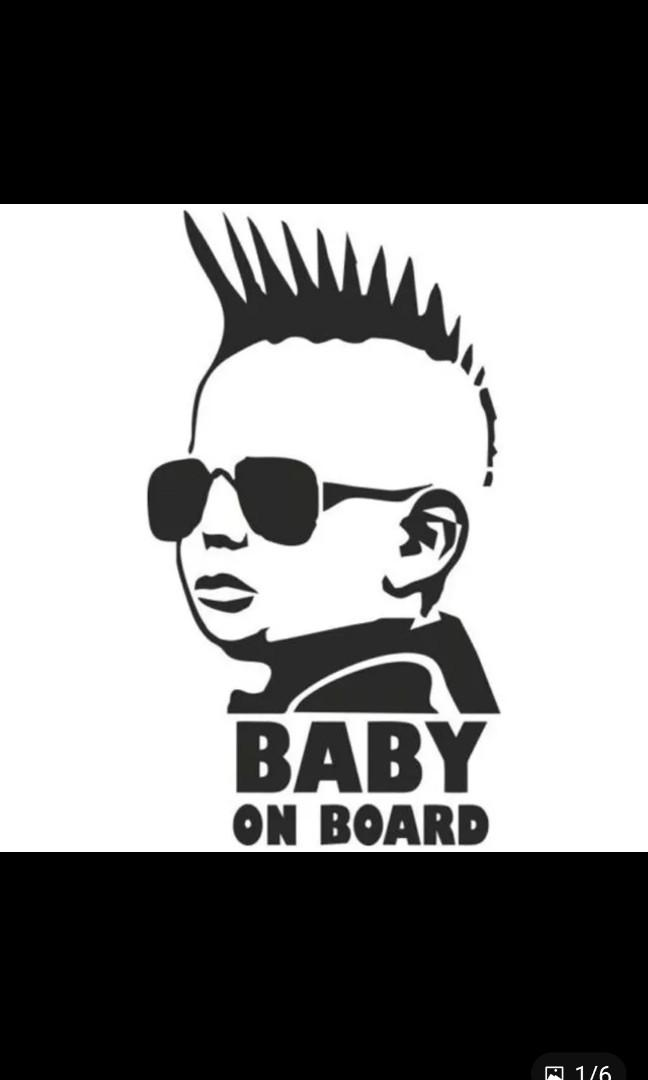 Baby On Board Stickers Reflective Car Vinyl Decal Sign Sticker Signs Kids Safety