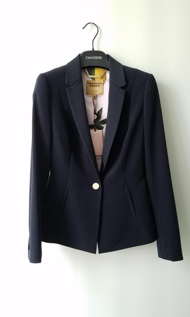 BNWT Ted Baker Silk Interior Midnight Navy Blazer Jacket